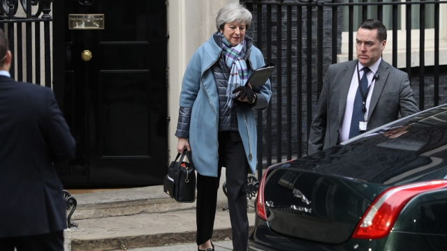 Prime Minister Theresa May leaves 10 Downing Street on January 29, 2019 in London (Photo by Dan Kitwood/Getty Images)