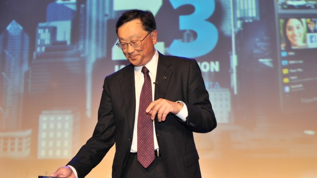 "Article thumbnail: John Chen (R), Chief Executive Officer BlackBerry, holds the newly launched BlackBerry Z3 smartphone ""Jakarta edition"" during a ceremony in Jakarta on May 13, 2014. BlackBerry on May 13 launched a new budget handset in Indonesia, one of its last bastions, in the hope it will take off in emerging markets and stem a decline in the smartphone maker's fortunes. AFP PHOTO / ADEK BERRY (Photo credit should read ADEK BERRY/AFP/Getty Images)"