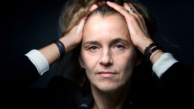 French writer Delphine de Vigan (Photo by JOEL SAGET/AFP/Getty Images)