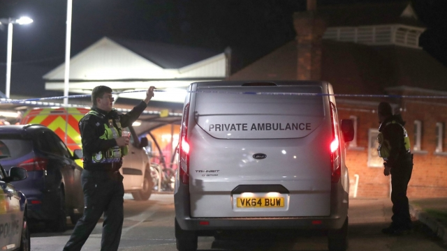 A private ambulance arrives at Horsley station near Guildford, Surrey, following a fatal train stabbing (Photo: Steve Parsons/PA Wire)