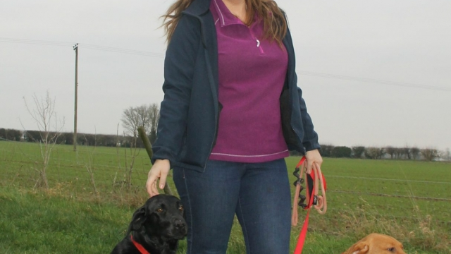 Dominique Thorpe and dogs