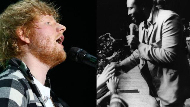 Ed Sheeran and Marvin Gaye (Photo: Getty)