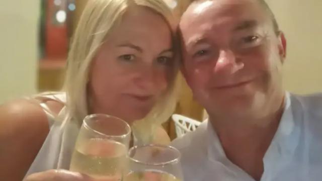 Danny Bownes and fiancee Simone Kilgallon flew to Edinburgh for Burns Night