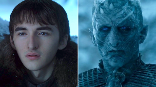 Bran and the Night King have remarkably similar face shapes