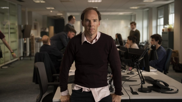 Dominic Cummings as played by Benedict Cumberbatch in Brexit: An Uncivil War (Channel 4 TV Still)