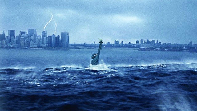 "A tsunami floods New York City in a scene from ""The Day After Tomorrow"", but David Wallace-Wells warns that parts of New York could be under water in the next century (REUTERS/20th Century Fox/Handout)"