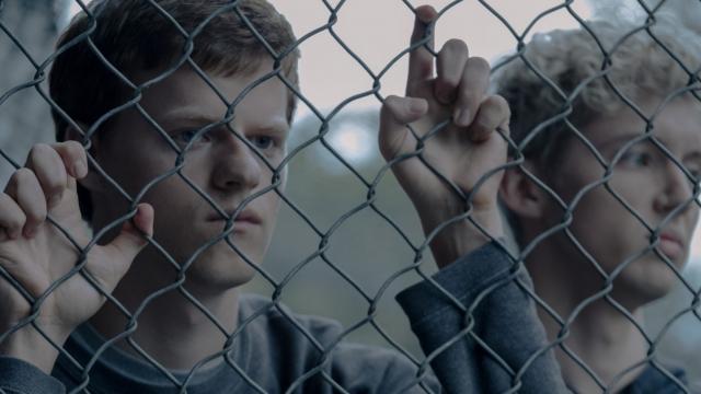 Lucas Hedges as Garrard Conley in the gay cure film Boy Erased