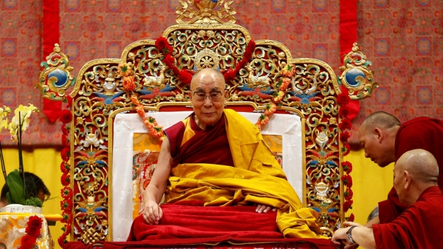 Tibet's exiled spiritual leader the Dalai Lama awaits a public religious lecture to the faithful in Zurich, Switzerland. (Photo: Reuters)
