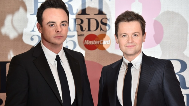 Article thumbnail: Ant and Dec pose on the red carpet before the 2015 awards (Photo: Getty)