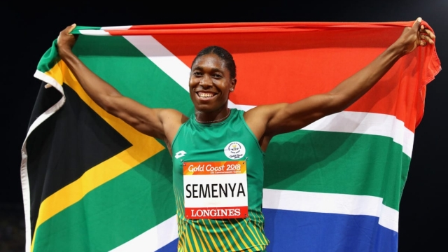 Semenya was born and brought up as female but has a medical condition known as hyperandrogenism meaning she has higher than usual levels of male hormones like testosterone in her body (Getty Images)