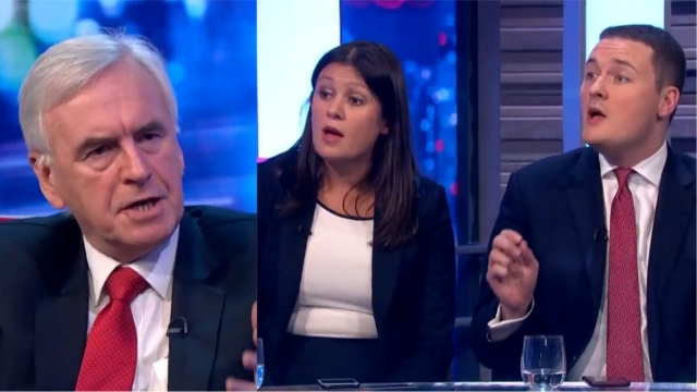 John McDonnell rowed with Lisa Nandy and Wes Streeting. (ITV)