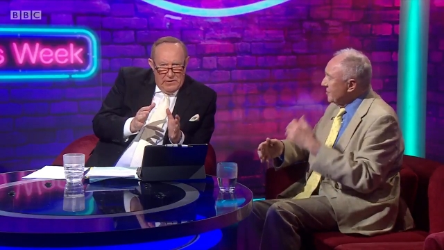 Article thumbnail: Ken Livingstone was grilled by Andrew Neil over his claims US sanctions had caused Venezuela's economic crisis. (Image: BBC)