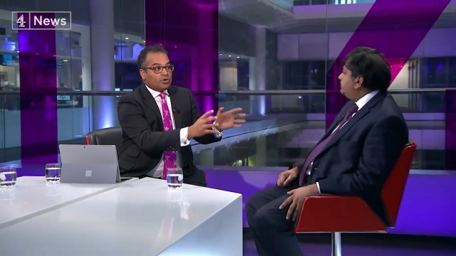 Krishnan Guru-Murthy clashed with trade expert Shanker Singham. (Image: Channel 4 News)