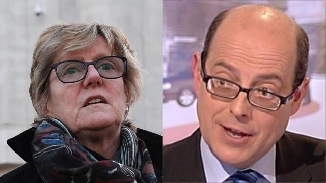 Nick Robinson and Sally Davies (Image: Getty/BBC)