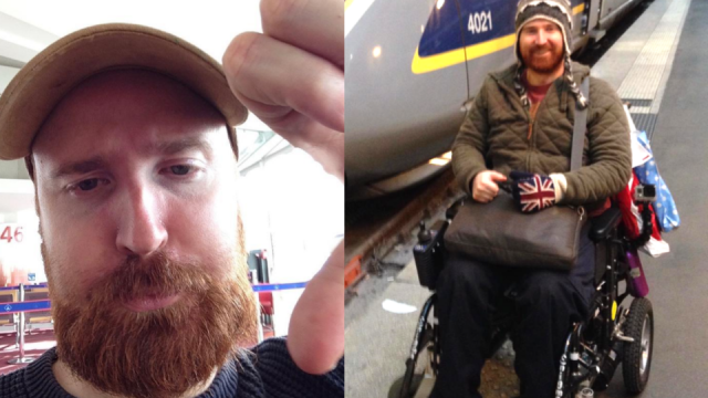 Olly Vaughan Jones, who has ME, has spoken out about his negative travel experience (Photo: Olly Vaughan Jones)