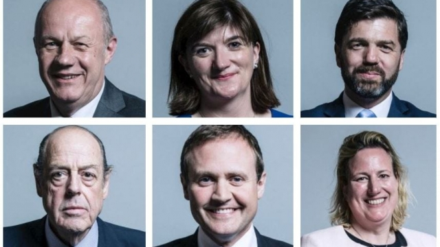 (Clockwise from top left) Damian Green, Nicky Morgan, Stephen Crabb, Antoinette Sandbach, Tom Tugendhat and Nicholas Soames are all part of the 'pragmatic' group (Photo: House of Commons)