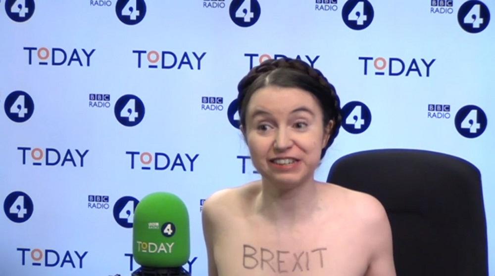 Anti-Brexit Cambridge academic appears naked on BBC Radio