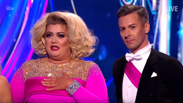Gemma Collins time on Dancing On Ice came to an end when she became the latest star to be eliminated from the competition (Photo: ITV)