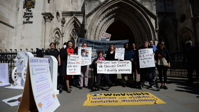 "rowing opinion for change: Disability rights campaigners outside the Royal Courts of Justice in London, where motor neurone disease sufferer Noel Conway lost an Appeal Court challenge against a ""blanket ban"" on assisted dying. (Photo: Kirsty O'Connor/PA Wire)"
