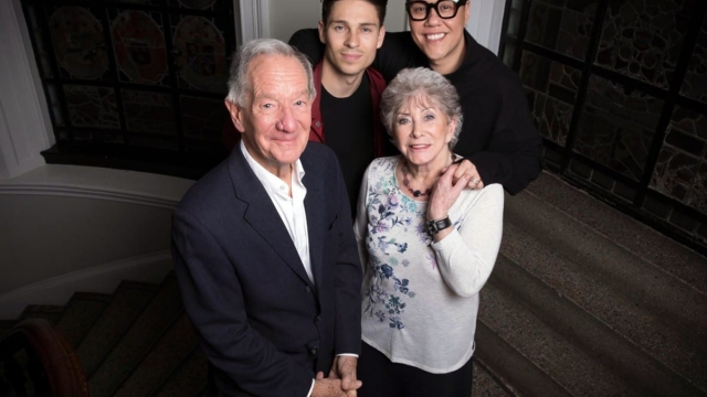 Michael Buerk with the memory-makers: Gok Wan, Joey Essex and Valerie Singleton (Photo: Channel 4)