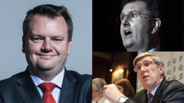Nick Thomas-Symonds, Jeffrey Donaldson and John O'Dowd