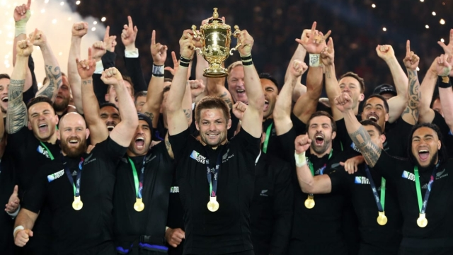 The All Blacks head into the 2019 Rugby World Cup as favourites (Getty Images)