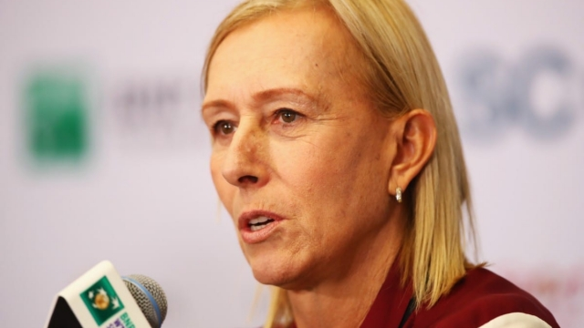Martina Navratilova apologised in a new blog post (Photo: Clive Brunskill/Getty Images)