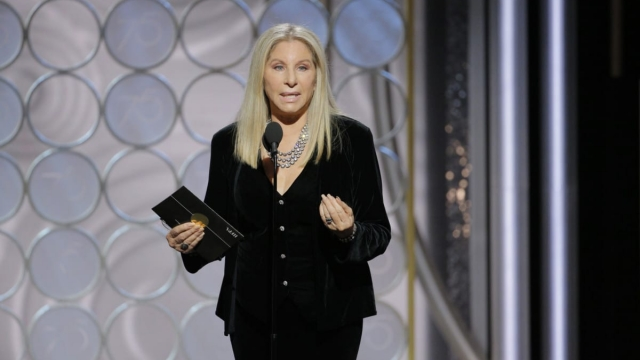 Article thumbnail: Barbra Streisand speaks onstage during the 75th Annual Golden Globe Awards at The Beverly Hilton Hotel on January 7, 2018 in Beverly Hills, California.