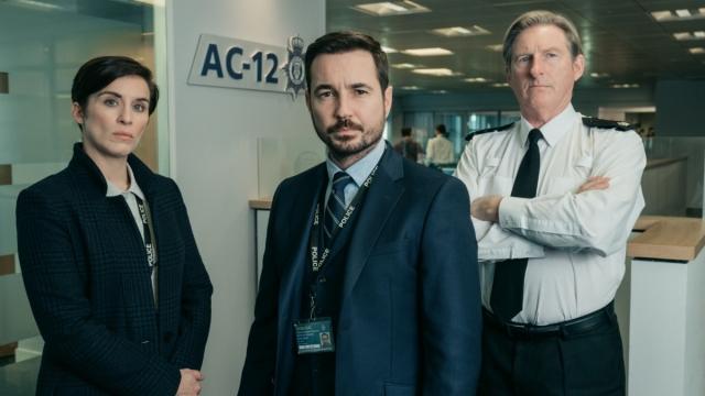 Vicky McClure, Martin Compston and Adrian Dunbar (Photo: BBC)