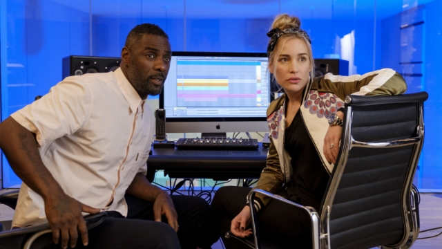 Idris Elba and Piper Perabo in Turn Up Charlie (Photo: Netflix)