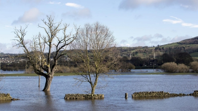 Flooding in Silsdend, Yorkshire, as flood warnings remain in place across the UK (Photo: PA)