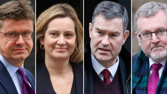 The ministers who rebelled: Greg Clark, Amber Rudd, David Gauke and David Mundell (Photo: AFP/Getty)