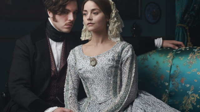 JENNA COLEMAN as Queen Victoria and TOM HUGHES as Prince Albert. (ITV/Mammoth Screen)