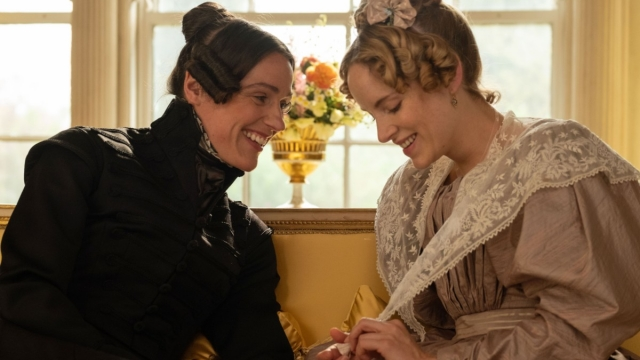 Anne Lister (SURANNE JONES) and Ann Walker (SOPHIE RUNDLE) (Photo: Lookout Point/BBC)