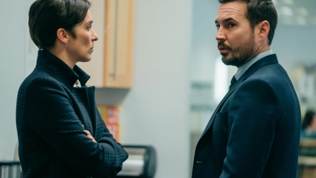 Tensions are high in Line of Duty - featuring Kate (VICKY MCCLURE), Steve (MARTIN COMPSTON) (Photo: BBC / Aiden Monaghan)