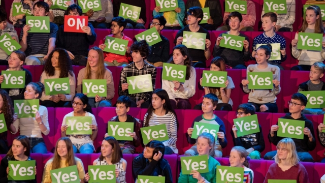 Children taking part in the Royal Institution's Christmas Lectures on gender (Photo: RI)