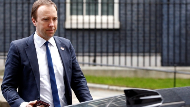 Health Secretary Matt Hancock outside Downing Street (Photo: Reuters)