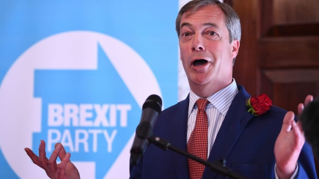 Nigel Farage's Brexit Party is riding high in the polls (photo: Victoria Jones/PA Wire)