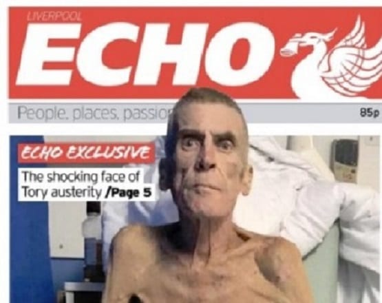 The Liverpool Echo's front page story on Stephen Smith's predicament, published on 4 February 2019