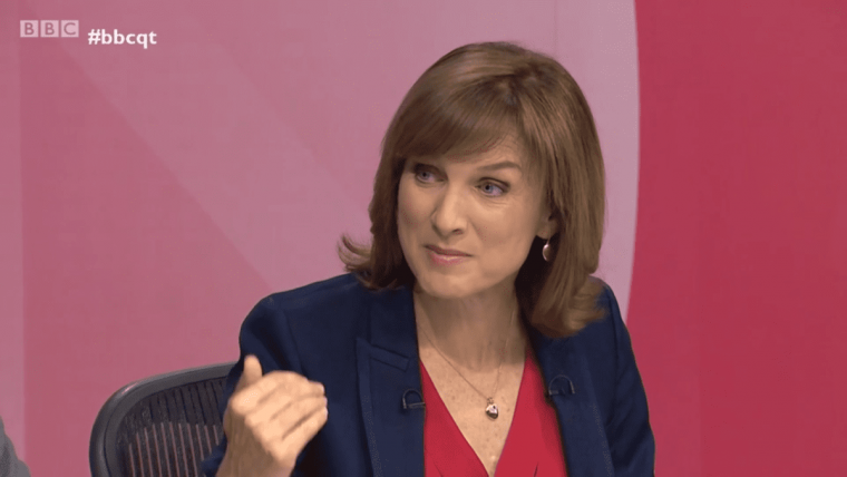 Question Time presenter Fiona Bruce is in demand by corporate firms (Photo: BBC)