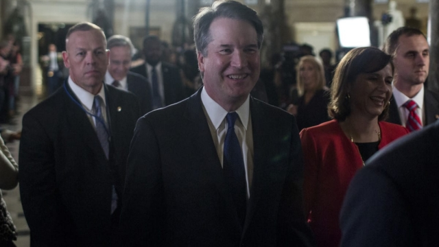 Article thumbnail: Supreme Court Justice Brett Kavanaugh is coming to the UK to teach a university course (Photo: Zach Gibson/Getty Images)