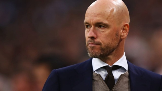 Ten Hag and Guardiola even share a taste in jumpers, it seems (Getty Images)