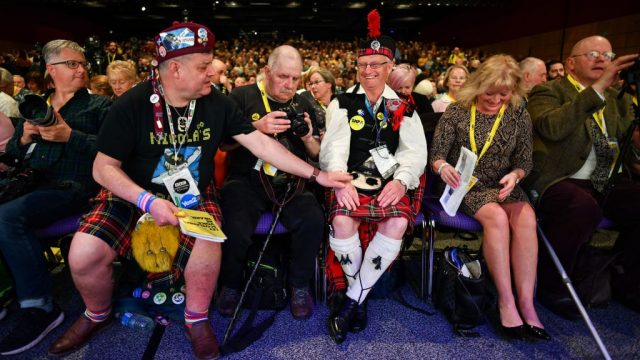 The decision was made by delegates at the SNP conference in Edinburgh (Photo: Getty)