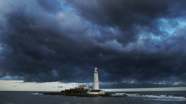 Clouds over St Marys Lighthouse in Whitley Bay. (Photo: PA)