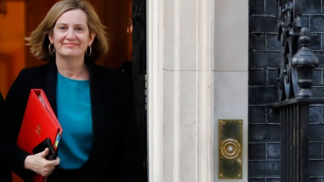 Amber Rudd leaves from 10 Downing Street after attending a Cabinet meeting (Photo: AFP/Getty)