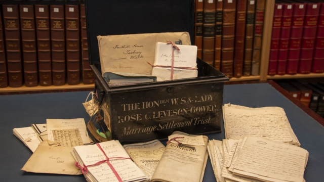 The Granville Archive – one of the tin trunks containing intimate personal and family correspondence, which will be available to researchers for the first time. (Photo: British Library).