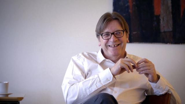 Guy Verhofstadt in his office (Photo: Zinc Media)