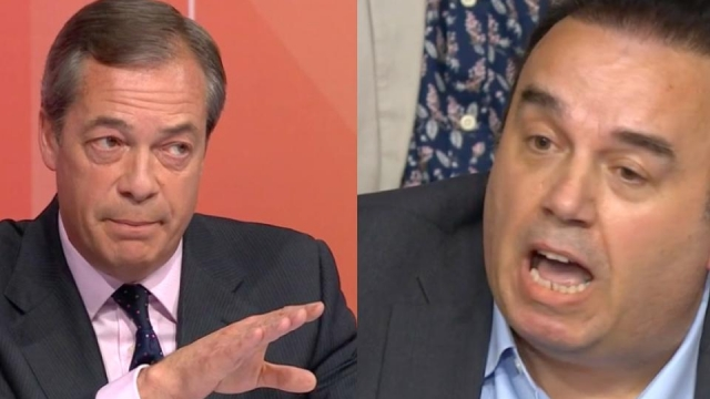 Farage was backed into a corner by the frustrated man in Northampton (Photo: BBC)