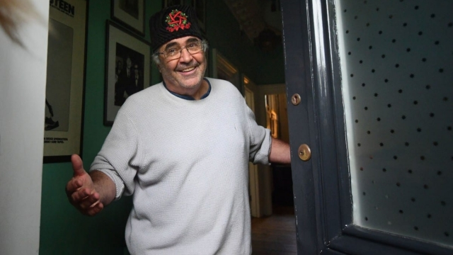 Danny Baker speaking at his London home after he was fired by BBC Radio 5 Live for tweeting a joke about the Duke and Duchess of Sussex's son. (Photo: Victoria Jones/PA Wire)