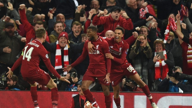 Georginio Wijnaldum scored twice in 10 second-half minutes as Liverpool pulled off a remarkable comeback against Barcelona (Getty Images)